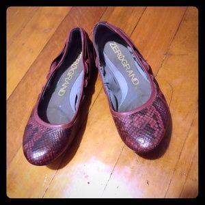 Cole Haan Zero Grand faux snakeskin ballet flats